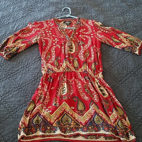 Angie Tops - Red, Boho tunic